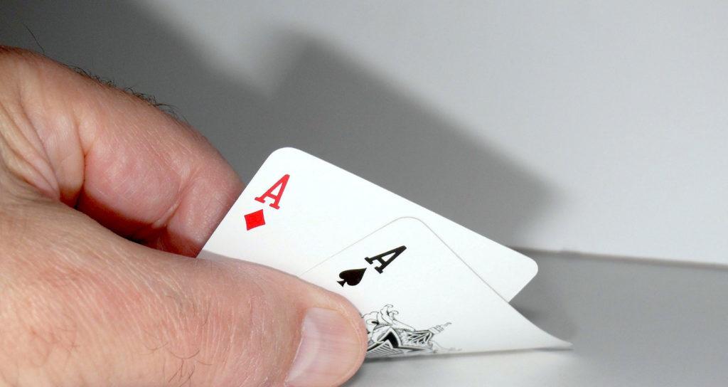 Verteilung von Glück beim Pokern