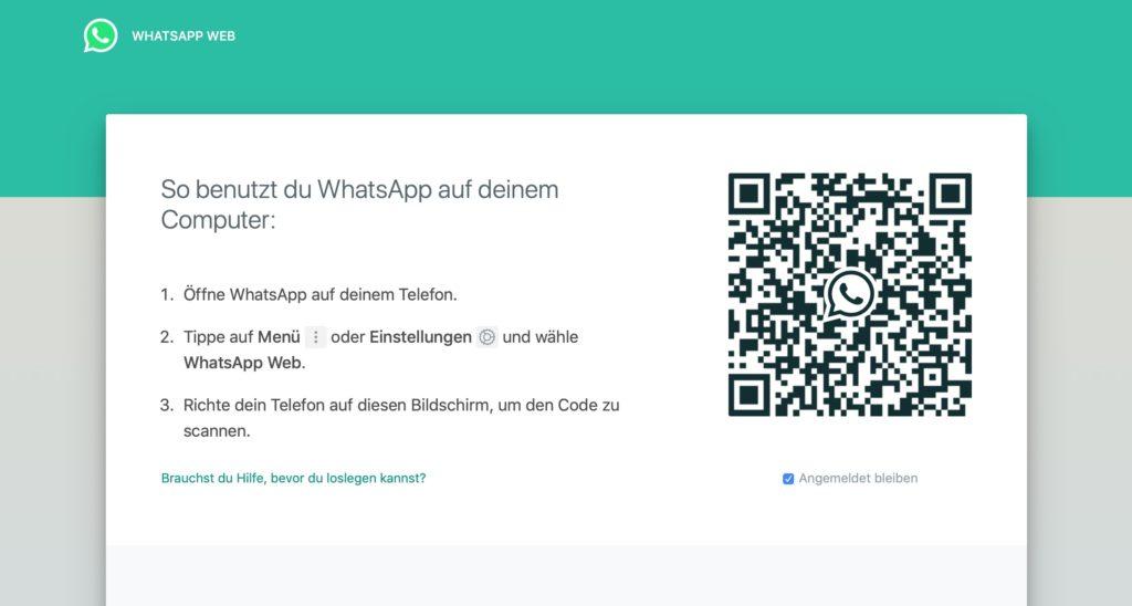 WhatsApp mitlesen Browser