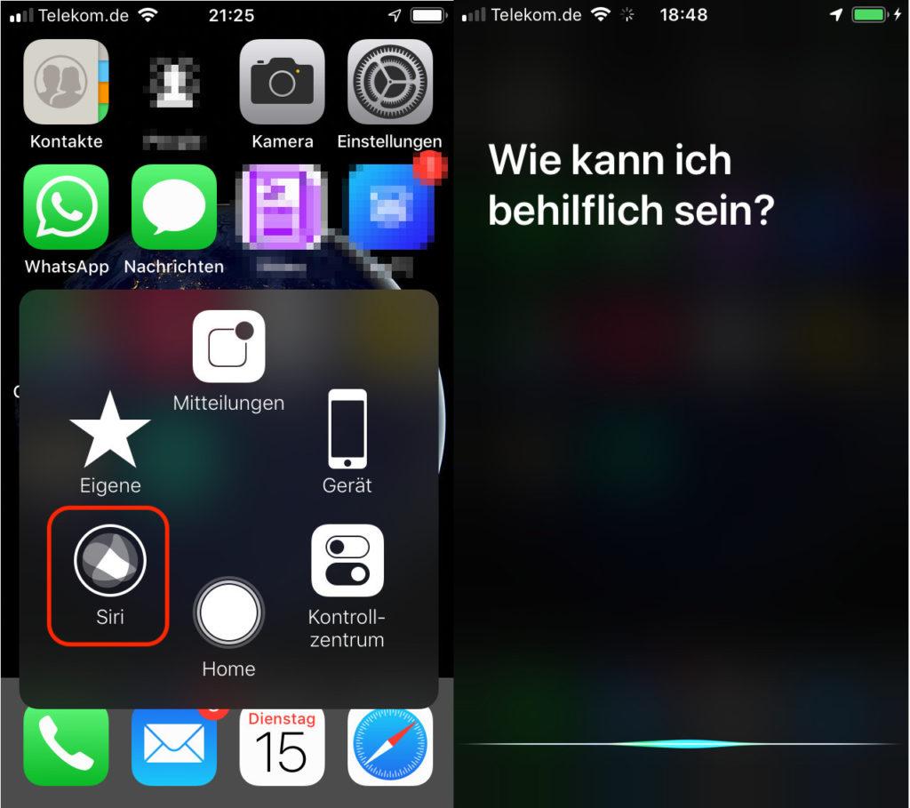 iOS Siri ohne Home Button starten
