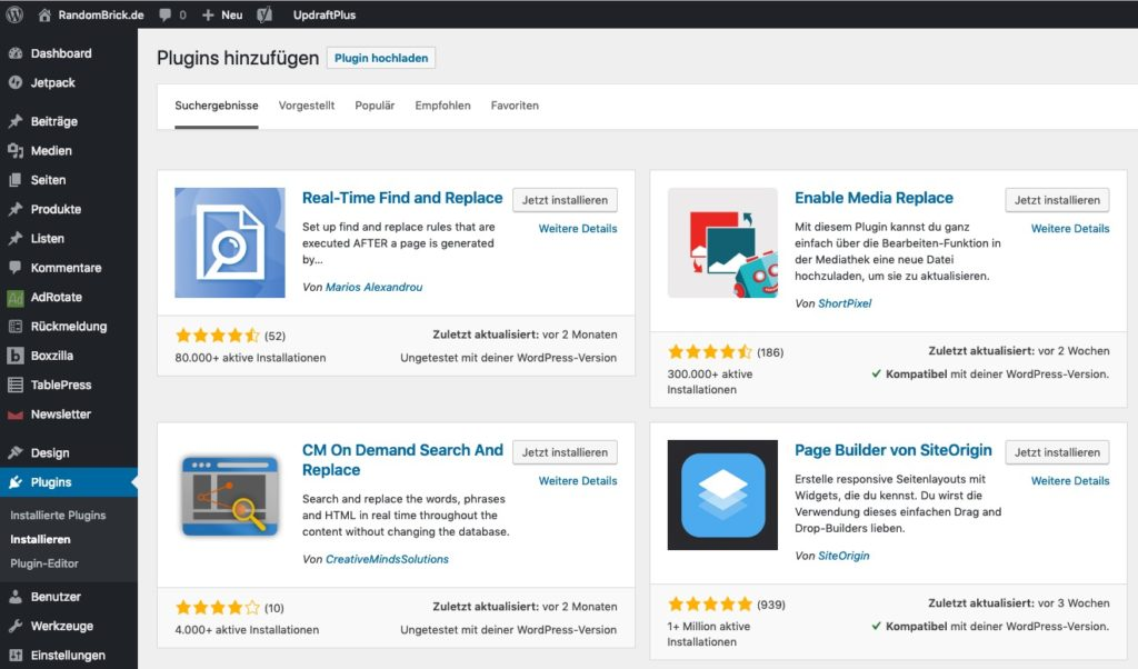 WordPress Plugin Real-Time Find and Replace