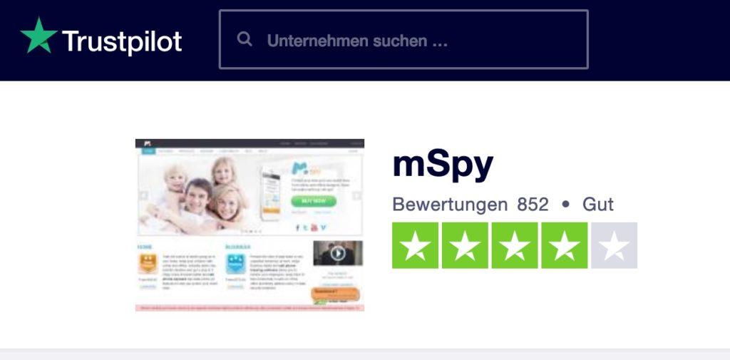 mSpy Bewertungen auf Trustpilot
