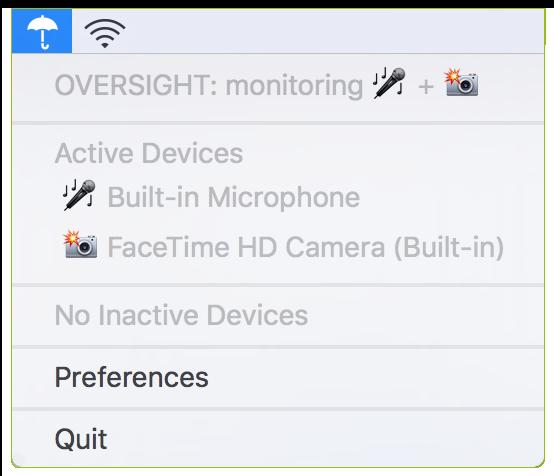OverSight warnt vor unerlaubter Nutzung des Mikrofons oder der Kamera