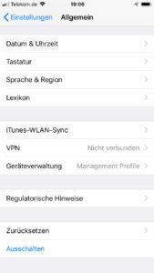 iPhone VPN einrichten