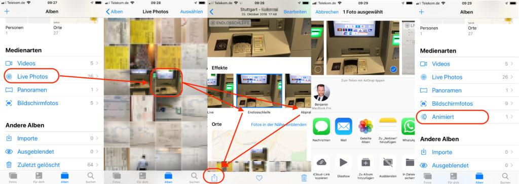 GIF auf iPhone erstellen