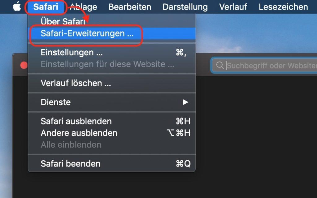 Safari Erweiterungen installieren