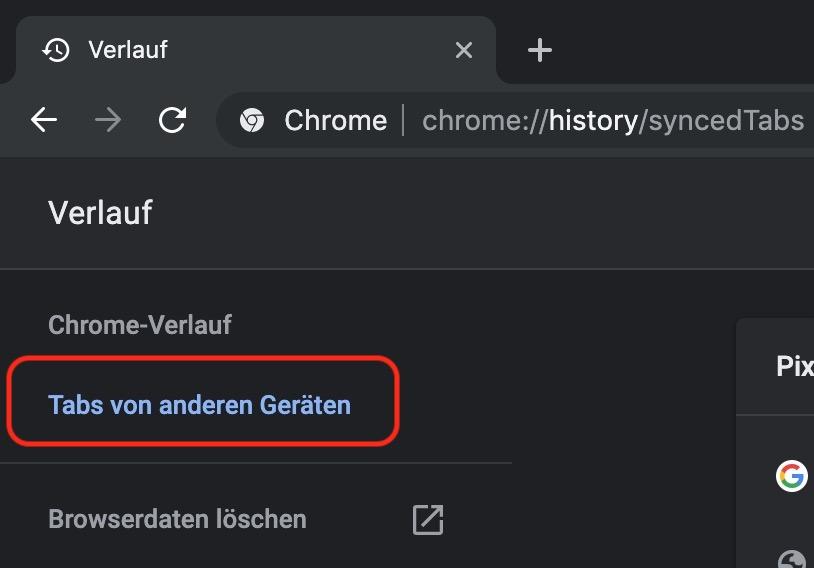 Google Chrome Verlauf