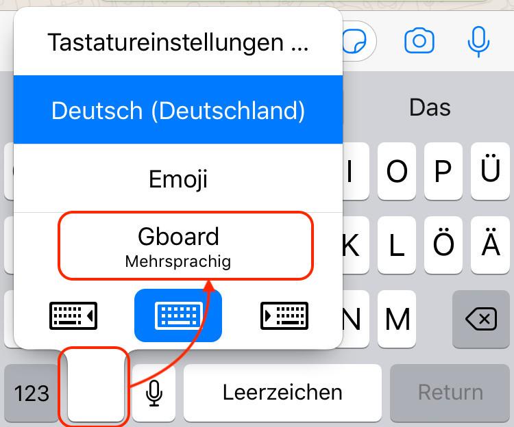 iPhone Tastatur wechseln