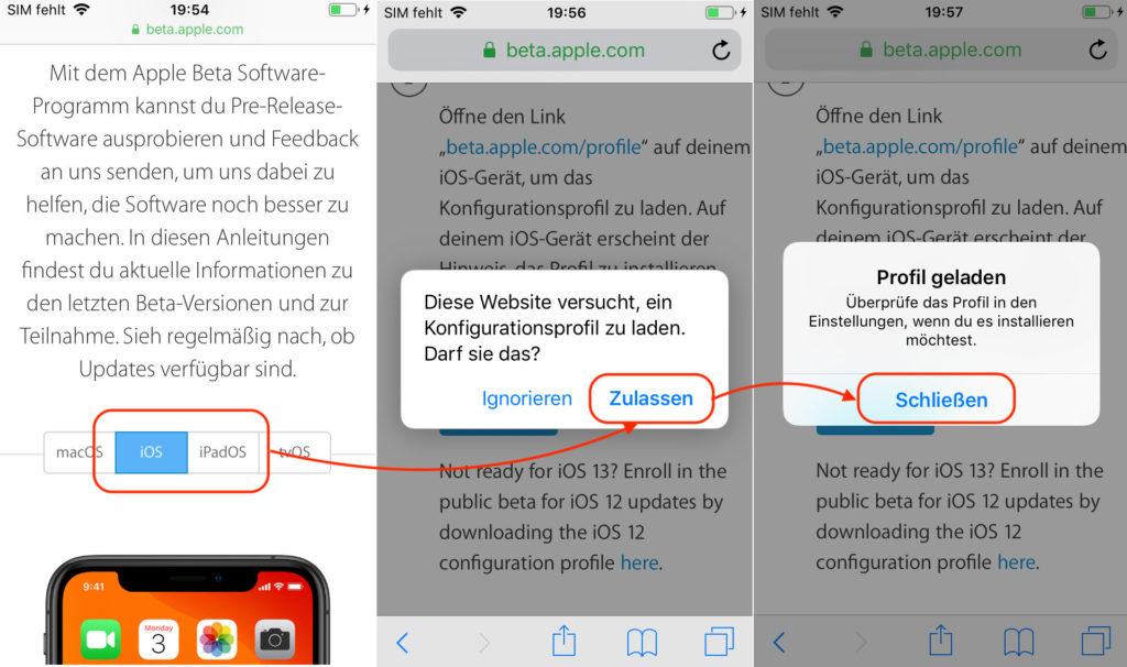 iOS Beta installieren