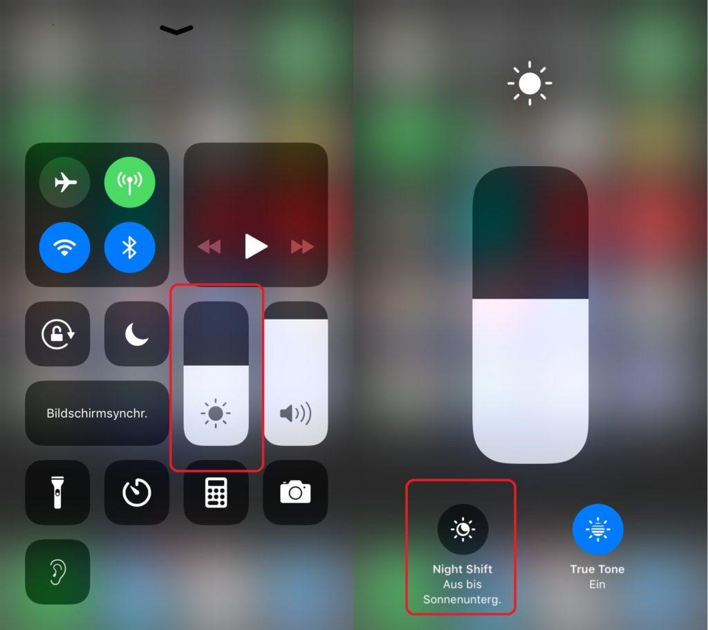 iPhone Nachtmodus aktivieren