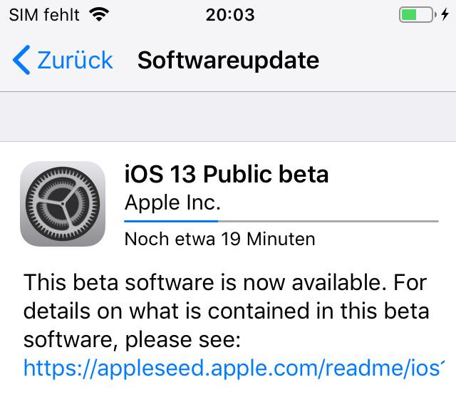 iPhone iOS Beta installieren