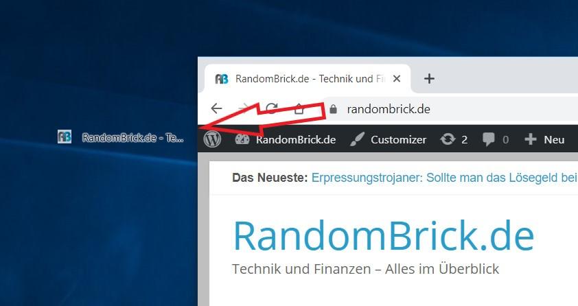 Windows 10 Desktop Verknüpfung für Webseiten erstellen