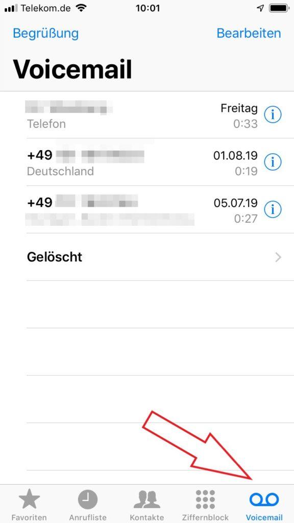 Voicemail auf dem iPhone abhören