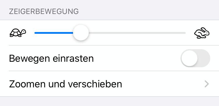 Zeigerbewegungen für iOS