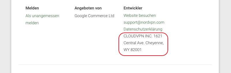 NordVPN und CloudVPN Inc