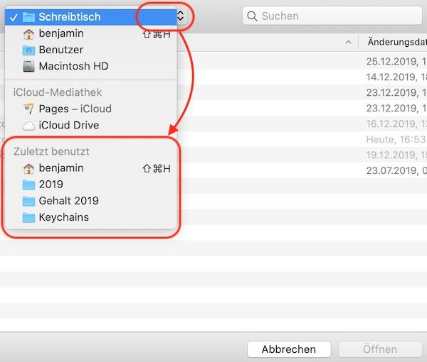 Mehr zuletzt benutzte Ordner unter macOS anzeigen
