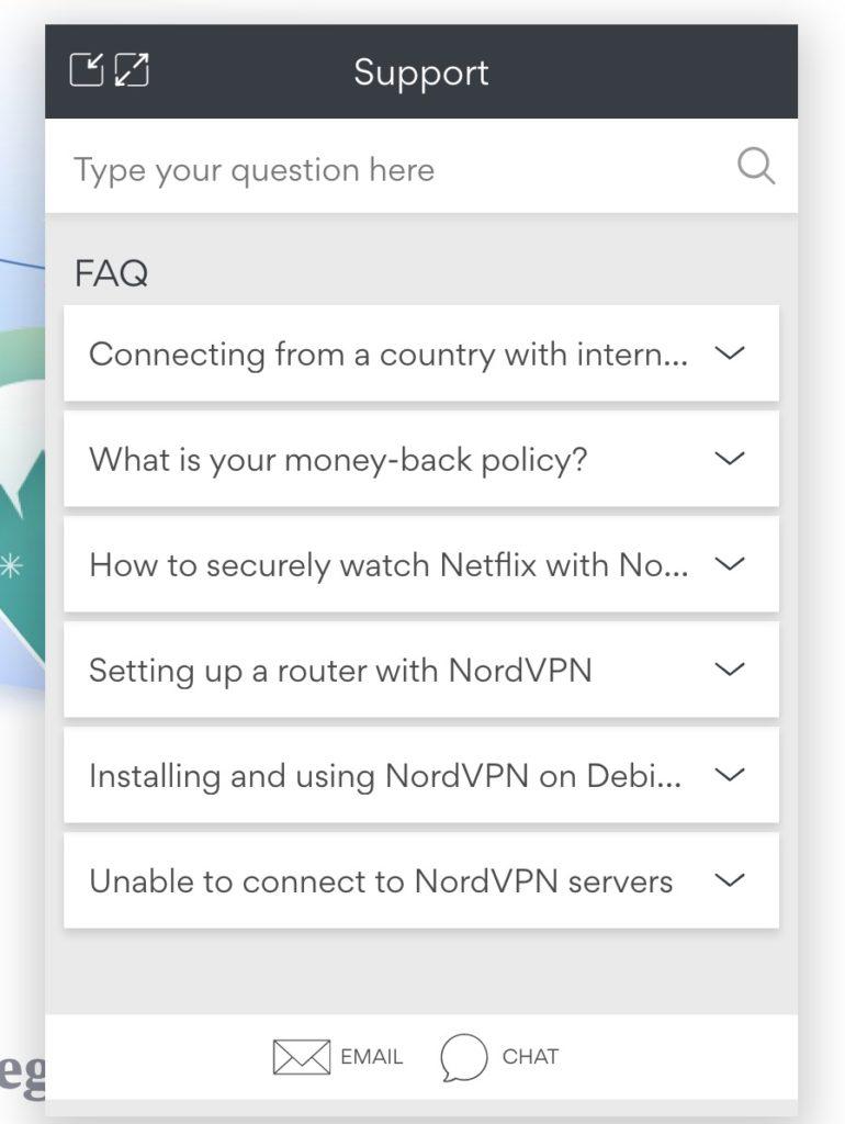 NordVPN Support kontaktieren
