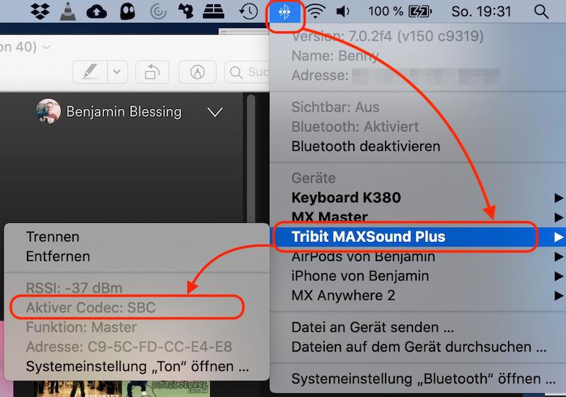 macOS Bluetooth Audio Codec