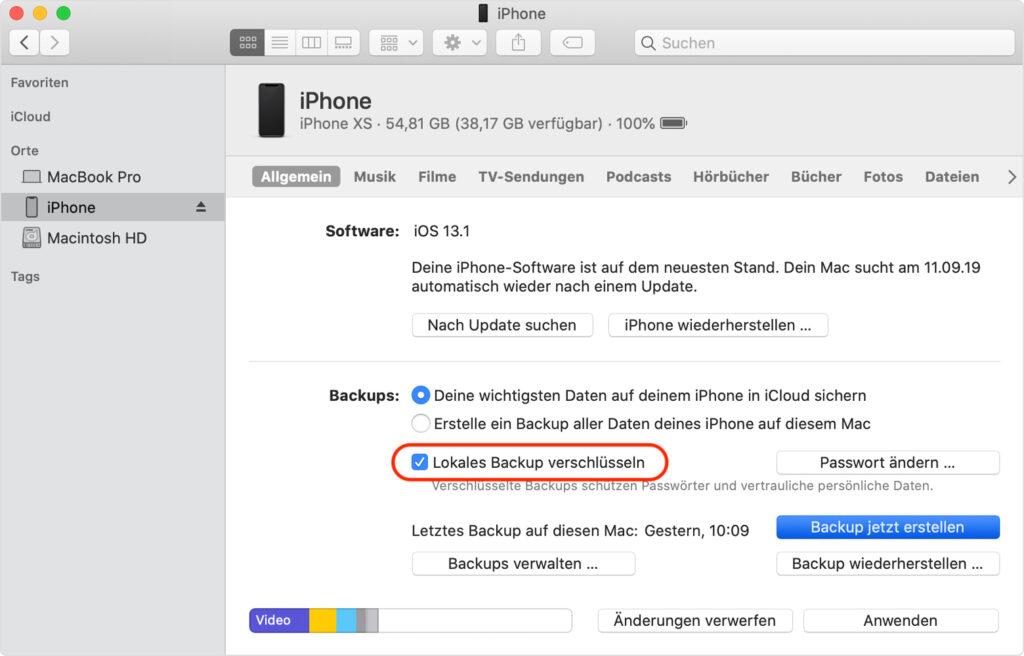 iPhone: So erstellst du sichere Backups