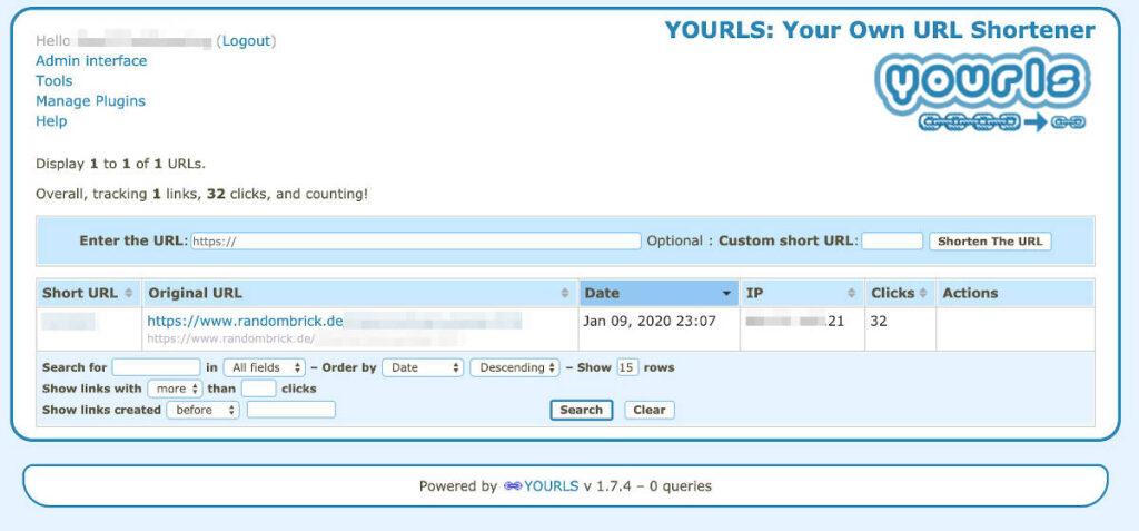 Mit YOURLS einen eigenen URL-Shortener kostenlos verwenden