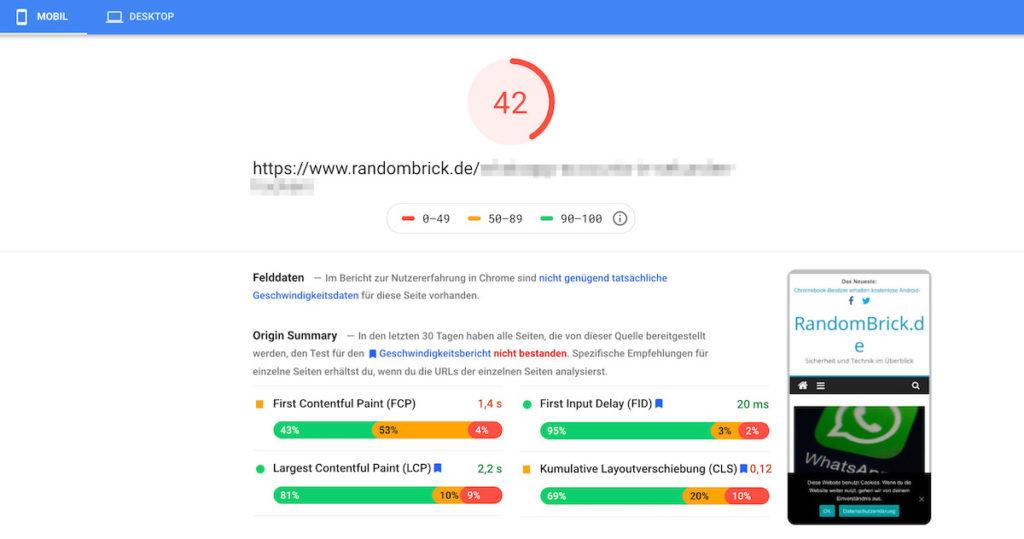 PageSpeed mit Adsense