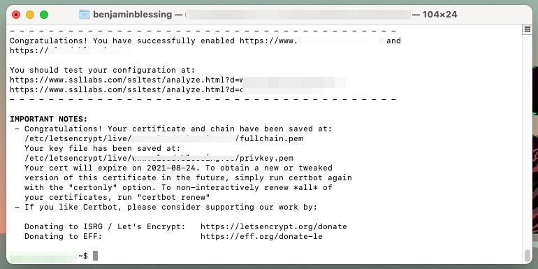 Let's Encrypt Zertifikat für Apache